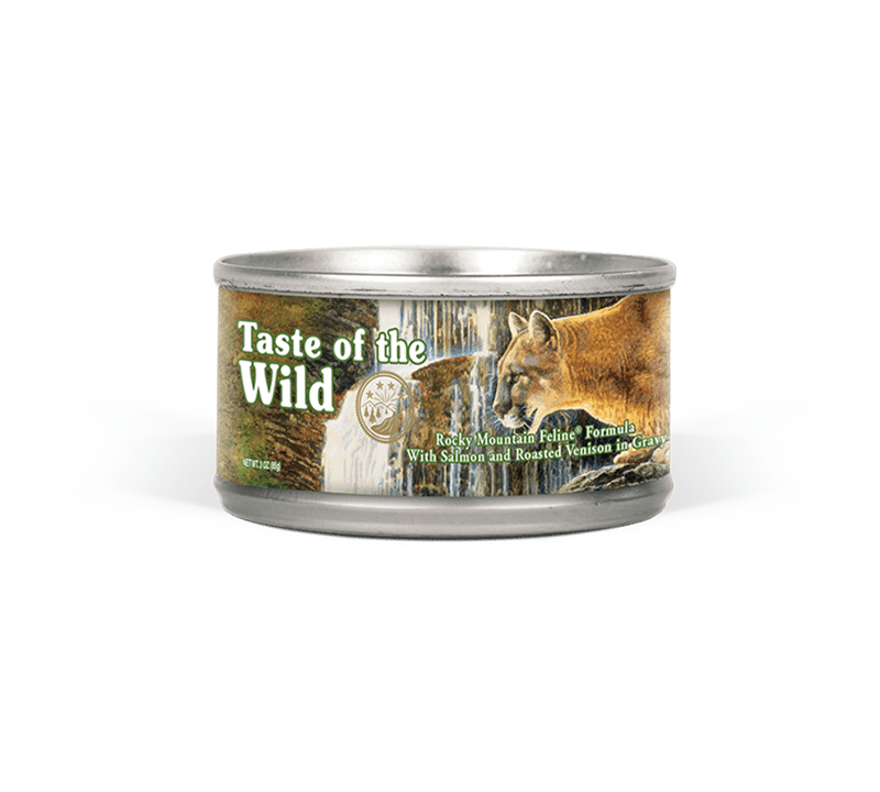 Rocky Mountain Feline Formula with Salmon and Roasted Venison in Gravy Image