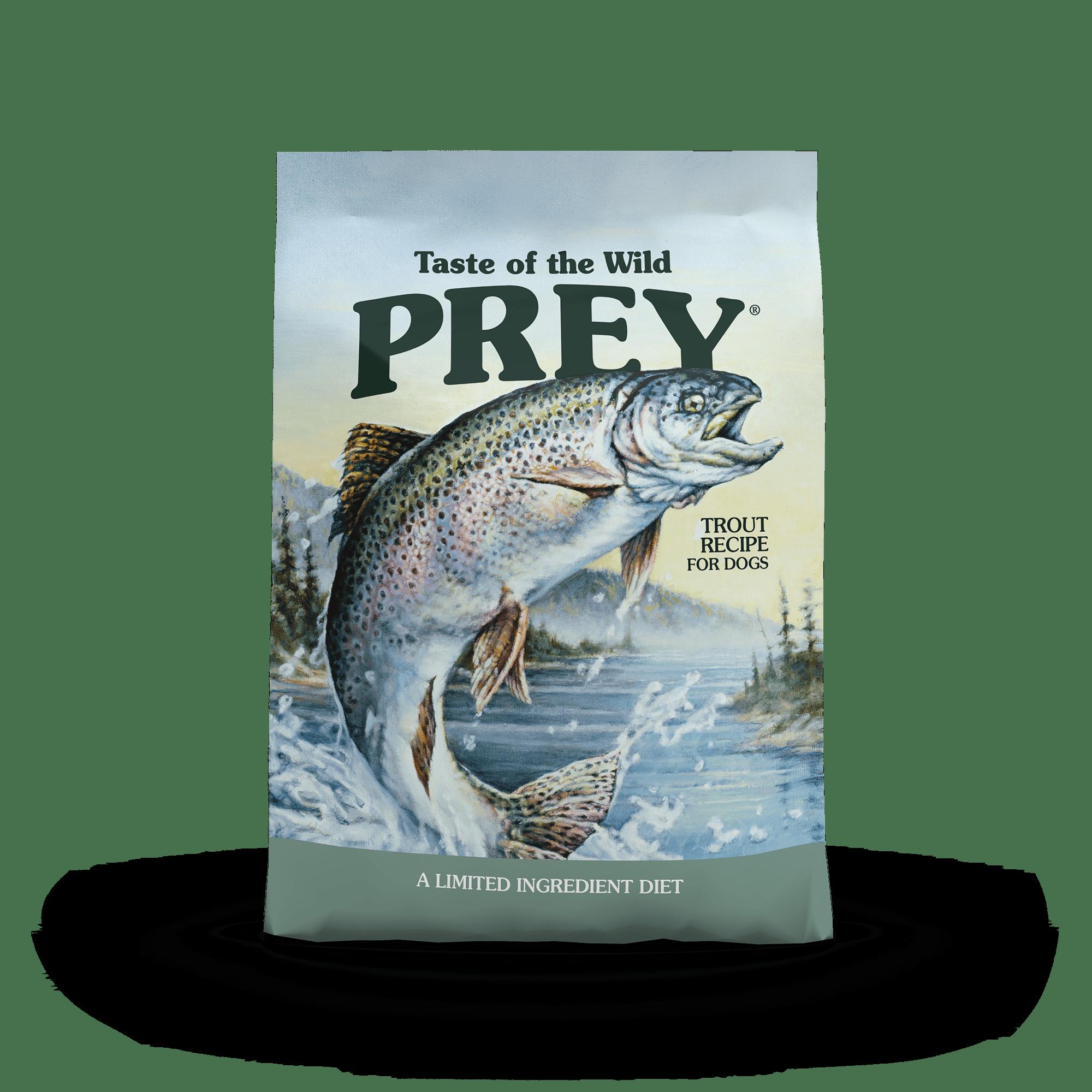 PREY Trout Limited Ingredient Formula for Dogs bag front