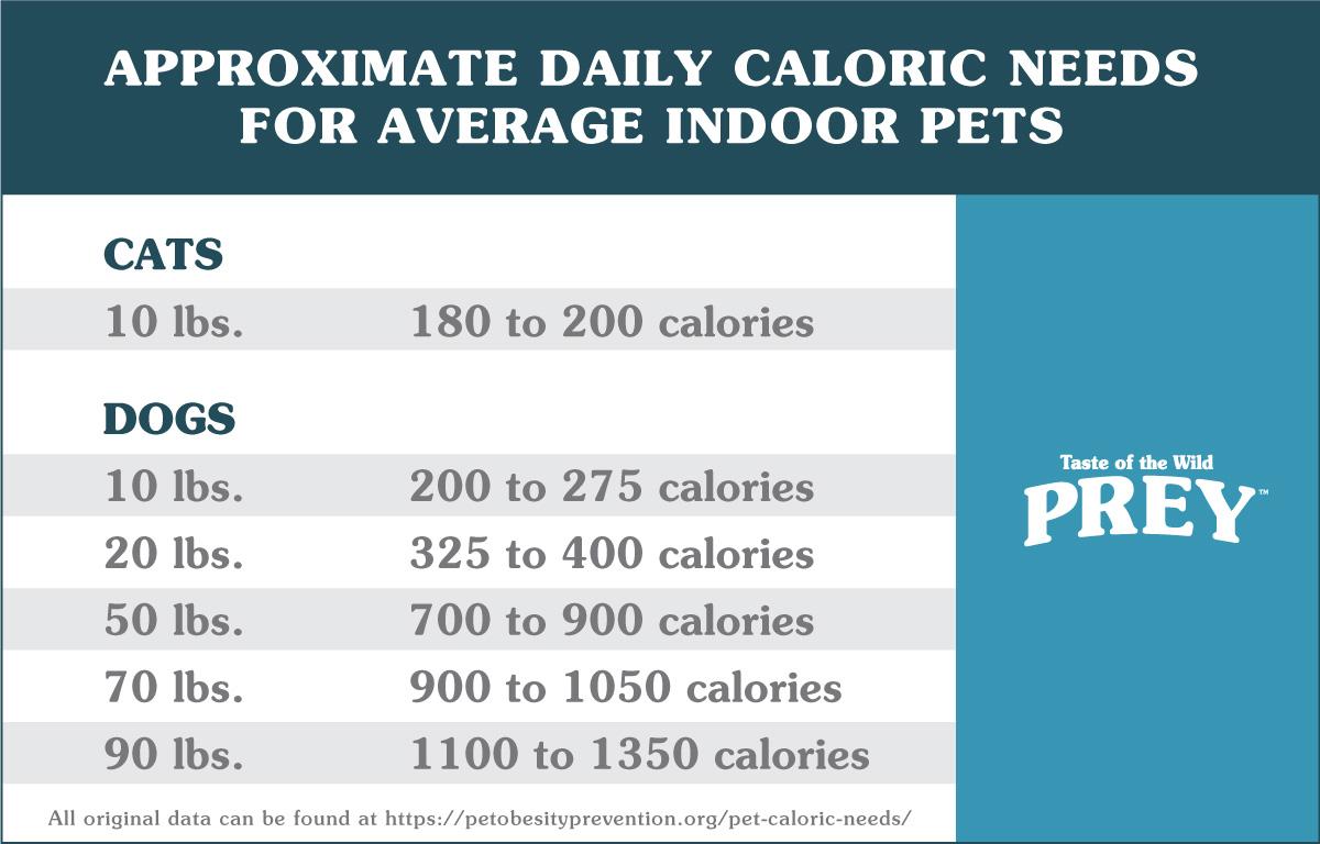 Dog & Cat Caloric Need Chart