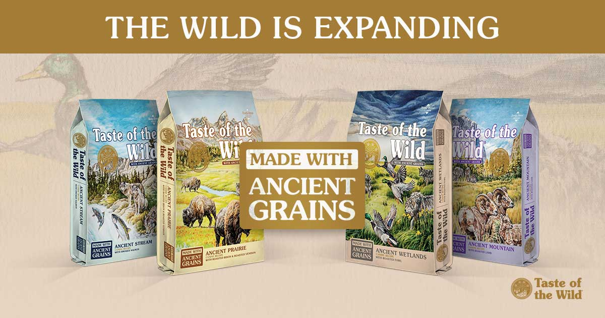 New Taste of the Wild with Ancient Grains Product Bags | Taste of the Wild Pet Food