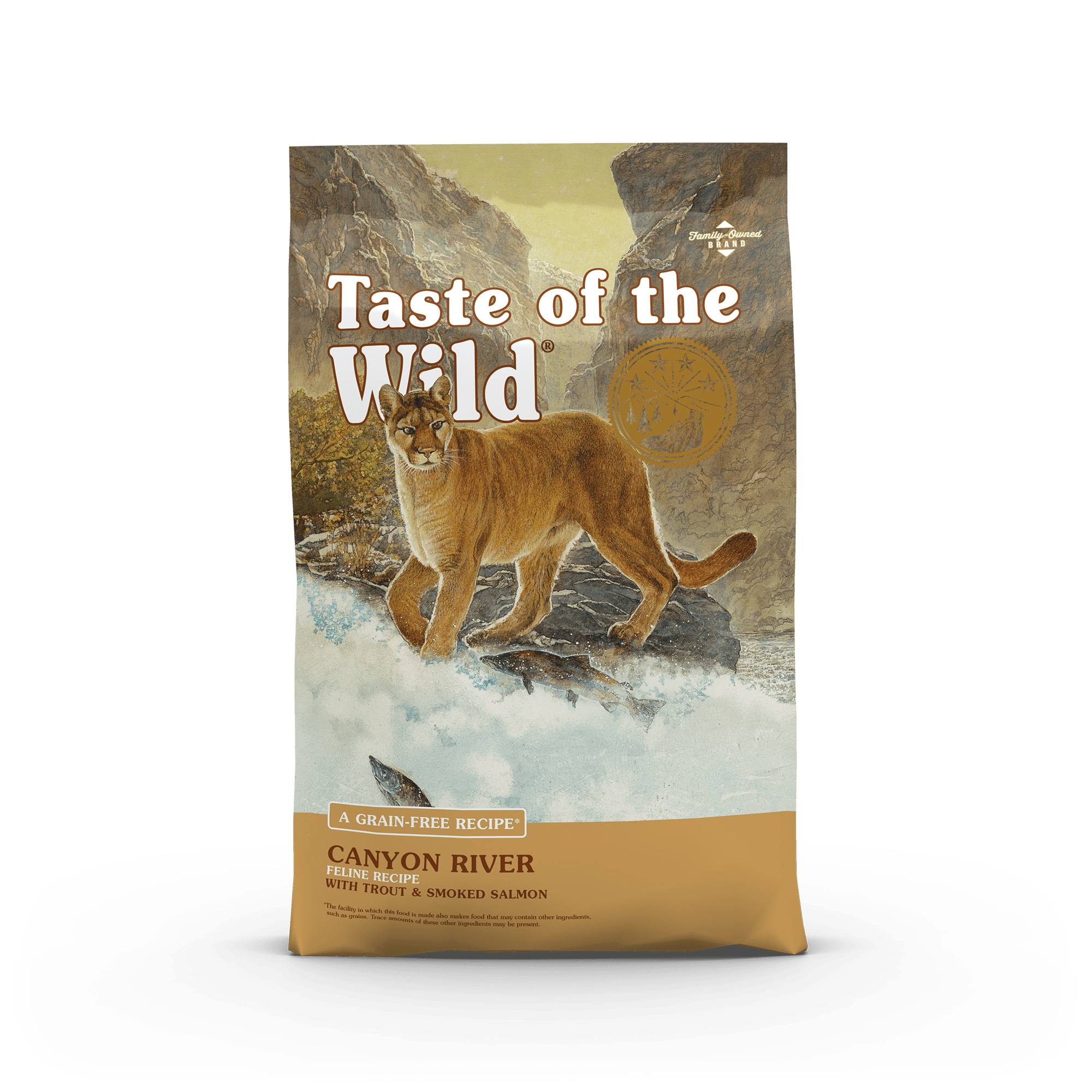 Canyon River Feline Recipe with Trout & Smoked Salmon bag front