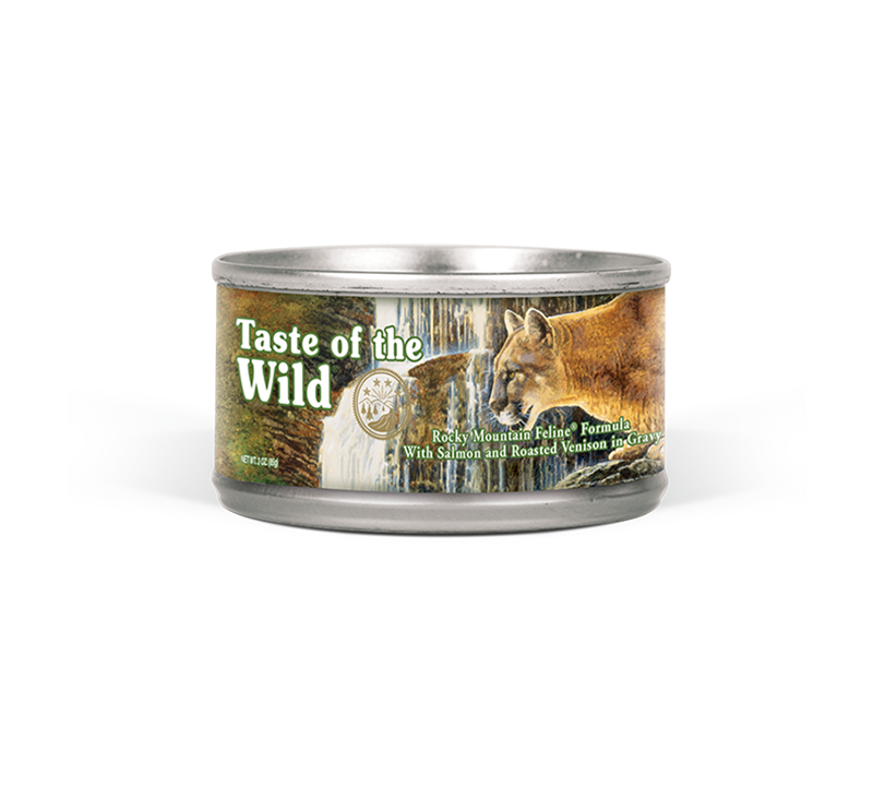 Rocky Mountain Feline Formula with Salmon & Roasted Venison in Gravy can front