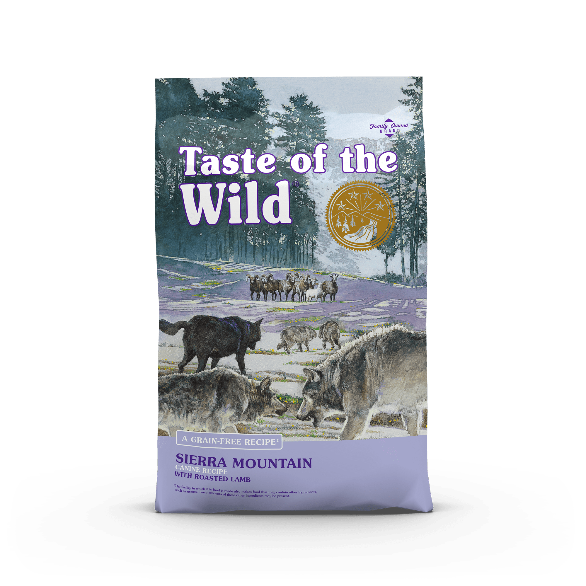 Sierra Mountain Canine Recipe with Roasted Lamb bag front