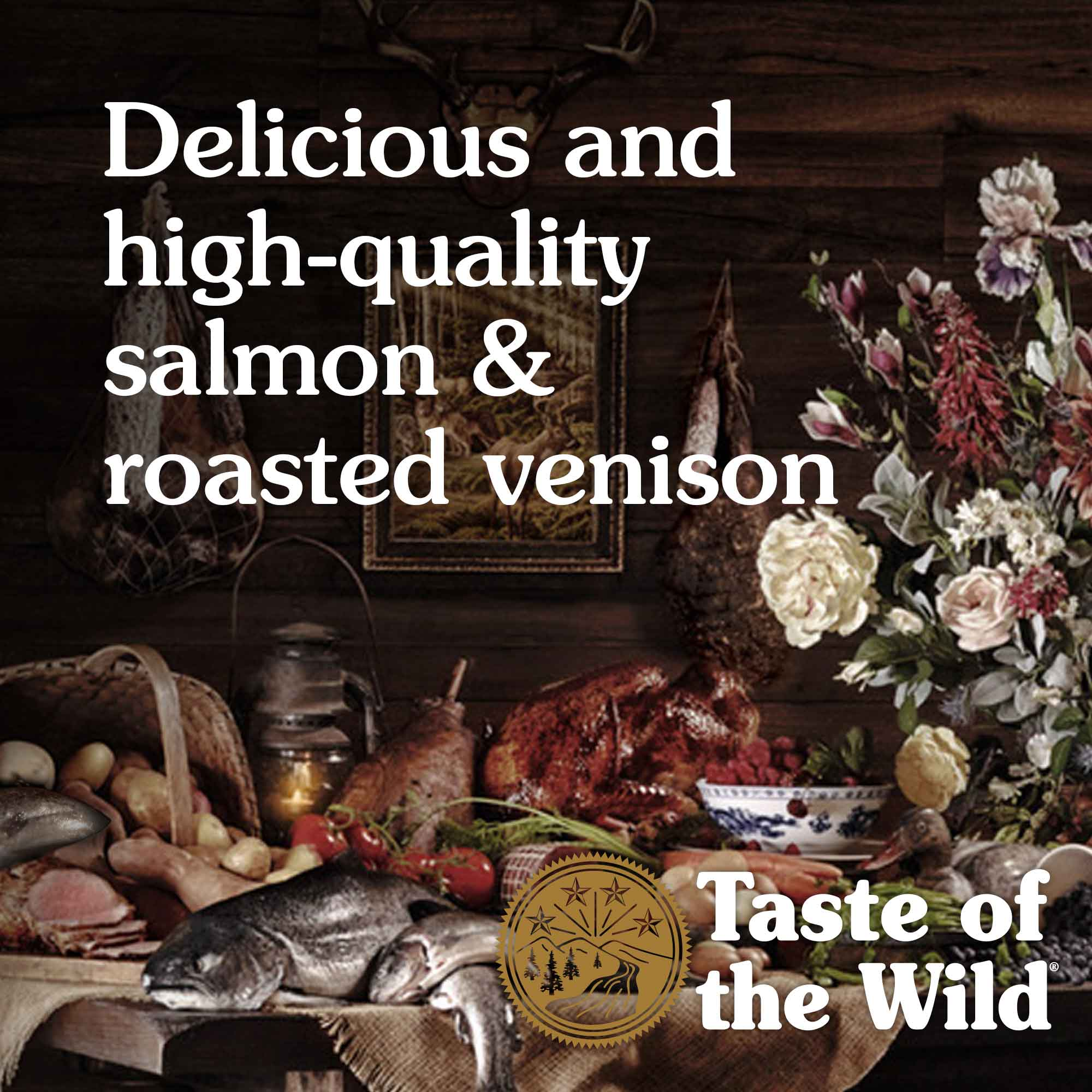 Delicious and high-quality salmon & roasted venison