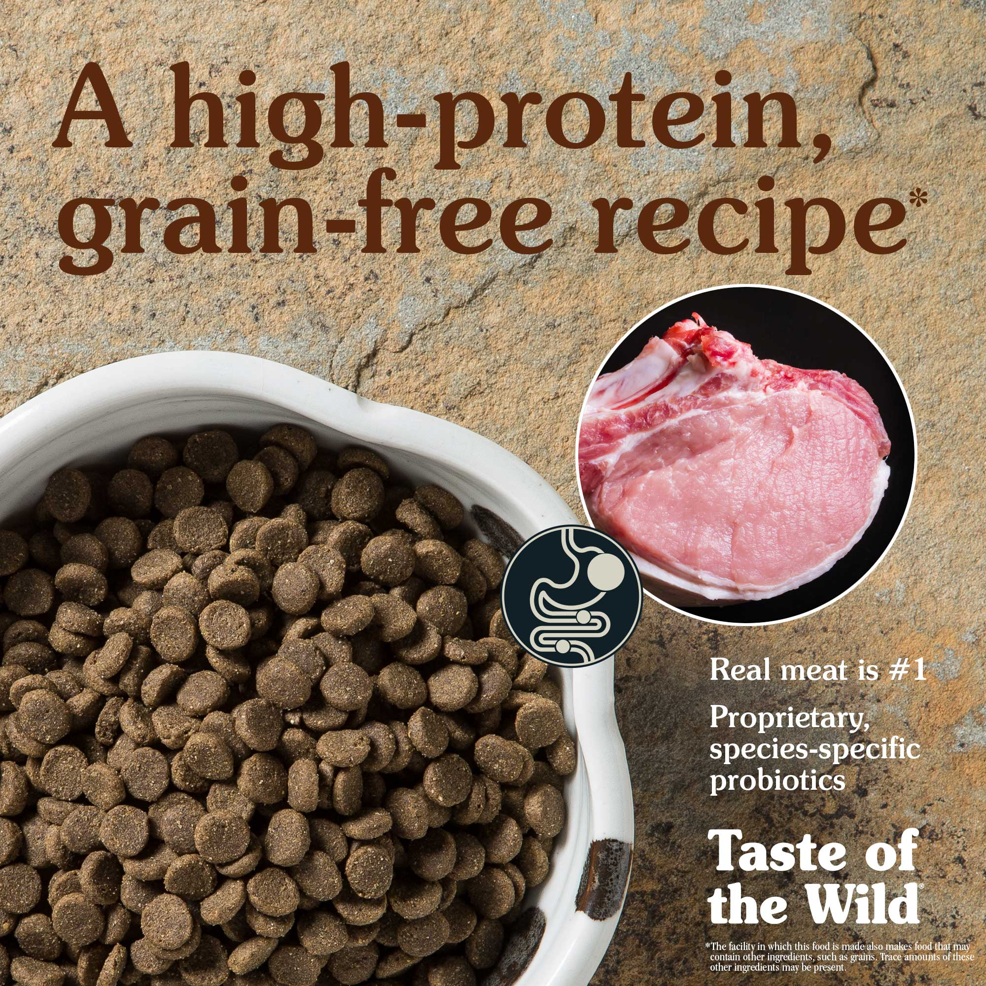 A high-protein, grain-free recipe. Real meat is #1.