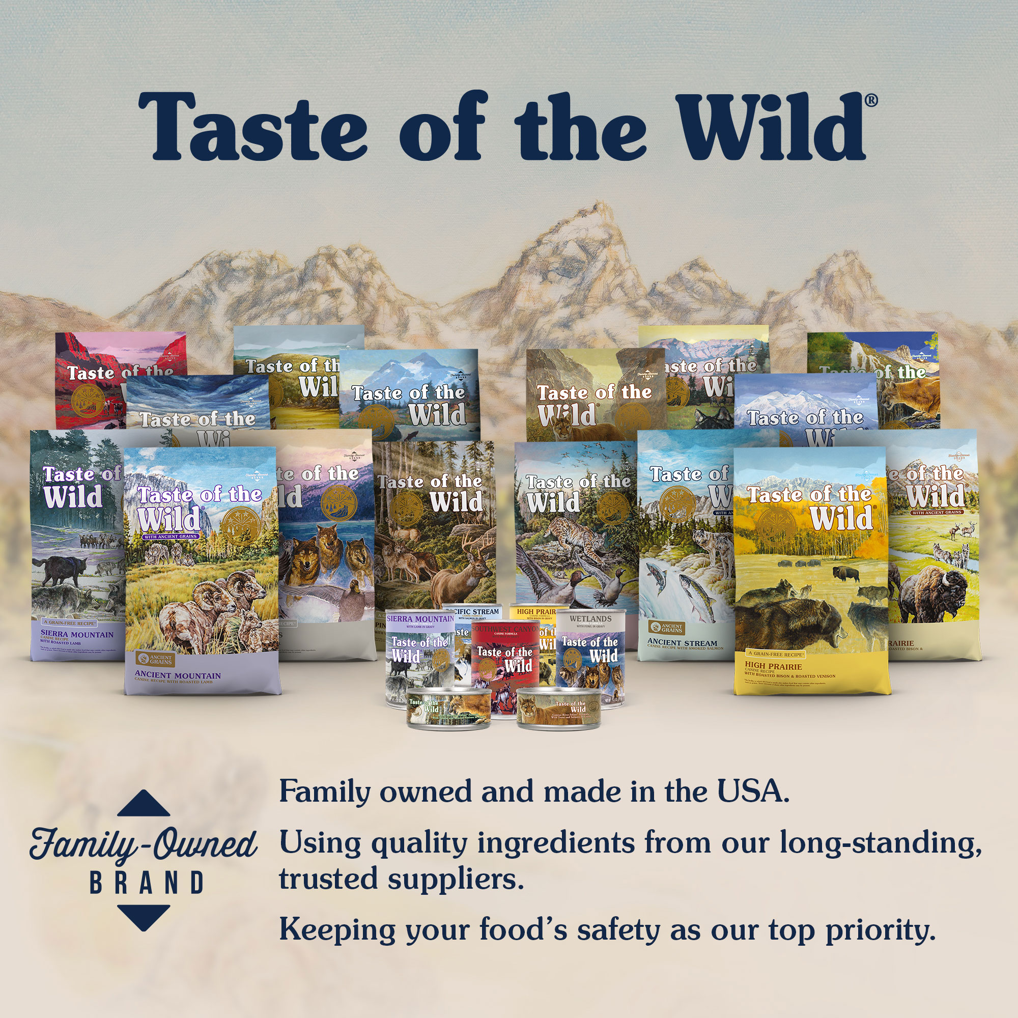 Taste of the Wild — Family owned and made in the USA.
