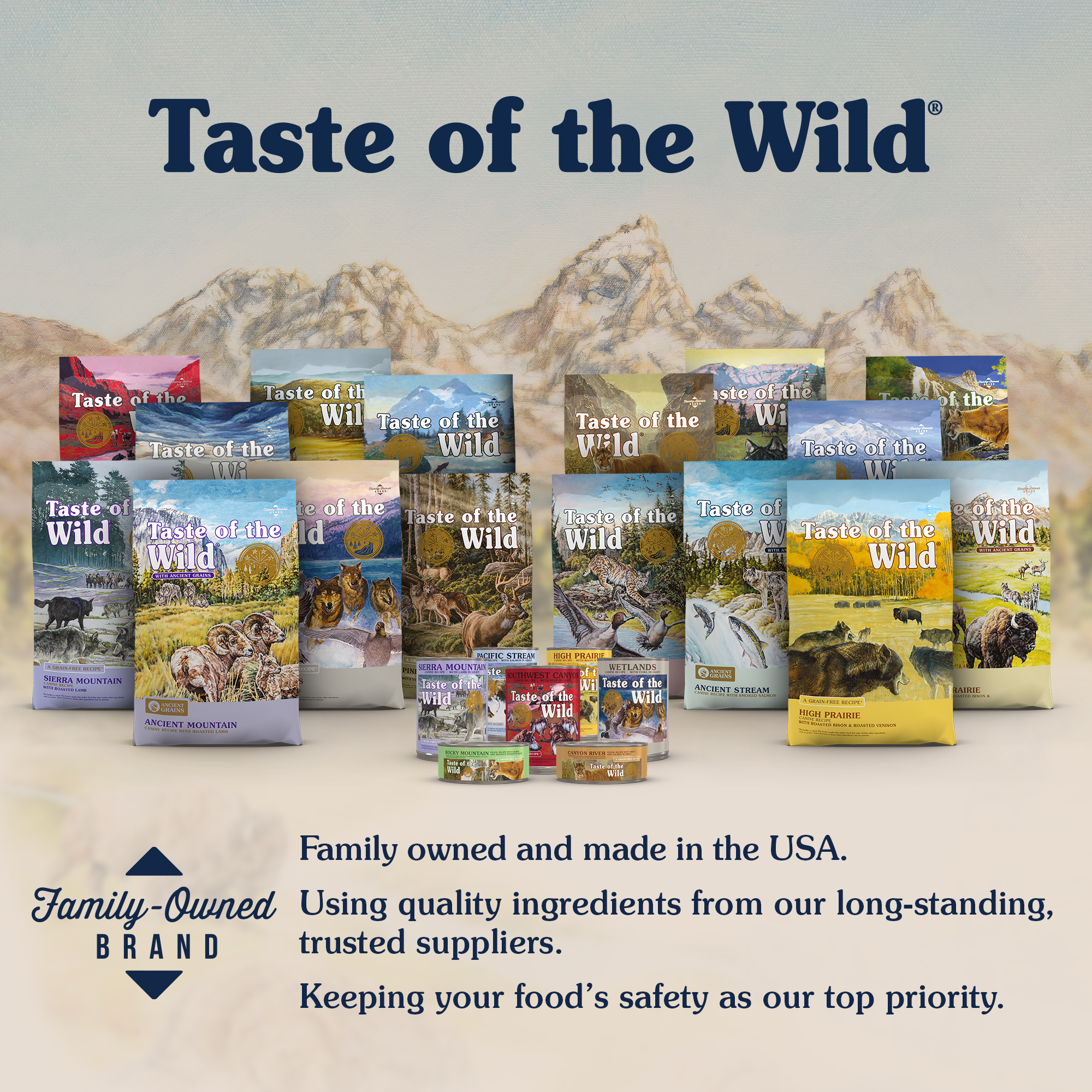 Bags and Cans of Taste of the Wild Pet Food | Taste of the Wild