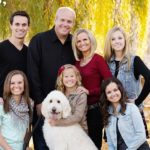 Matthews Family Posing Outside With Their Goldendoodle | Taste of the Wild