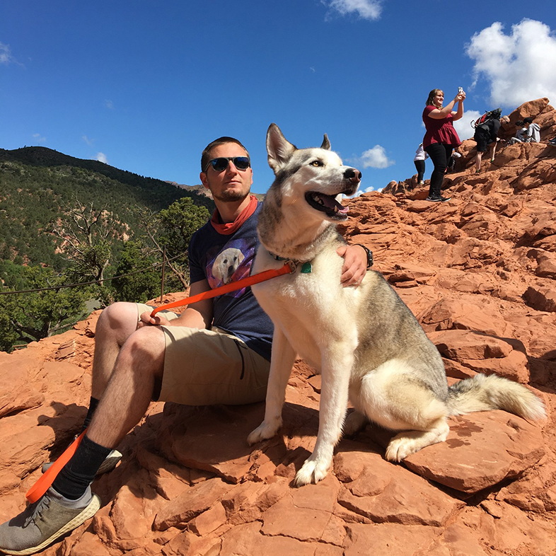 Dog and Owner on a Mountain   Taste of the Wild
